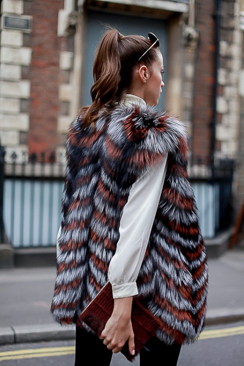 """<strong>""""Jessica"""" Reversible Fur Vest <br/><a href=""""https://rachelzeitlin.com/collections/all"""">Shop the fur style here </a><br/>Brown Notebook <br/><a href=""""http://www.rebeccabradleylondon.com/"""">Shop the fur style here</a></strong> Rachel Z, Rebecca Bradley"""